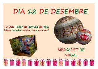 12 desembre mercadet i taller nadal